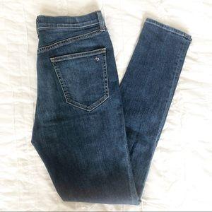 Rag & Bone Dark Wash Missing Pocket Detail Jean